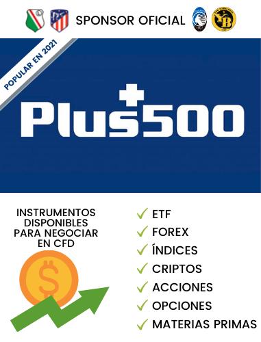 Plus500 logo broker online